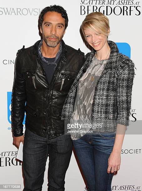 Carlos Leon and Betina Holte attend the Cinema Society with Swarovski Grey Goose premiere of eOne Entertainment's Scatter My Ashes at Bergdorf'sat...