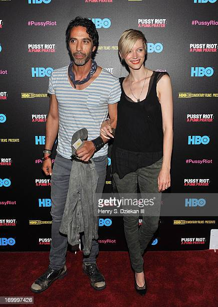 Carlos Leon and Betina Holte attend the HBO with The Cinema Society screening of Pussy Riot A Punk Prayer at Landmark's Sunshine Cinema on June 5...