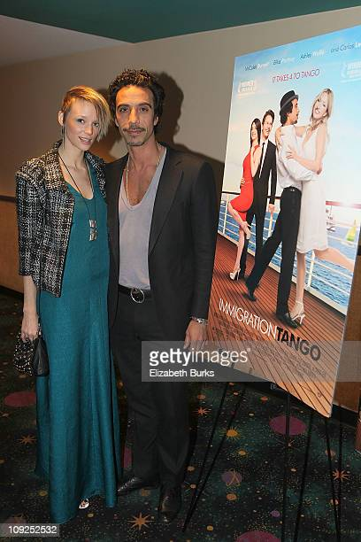 Carlos Leon and Betina Holte attend the Miami screening of Immigration Tango at AMC Sunset Place on February 17 2011 in Miami Florida