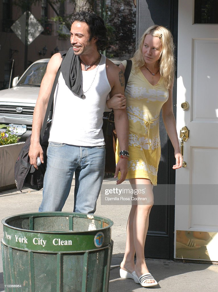 Carlos Leon and date during Carlos Leon Sighting in New York City at SoHo in New York City, New York, United States.