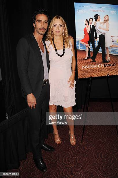 Carlos Leon and Elika Portnoy attend the Miami screening of Immigration Tango at AMC Sunset Place on February 17 2011 in Miami Florida