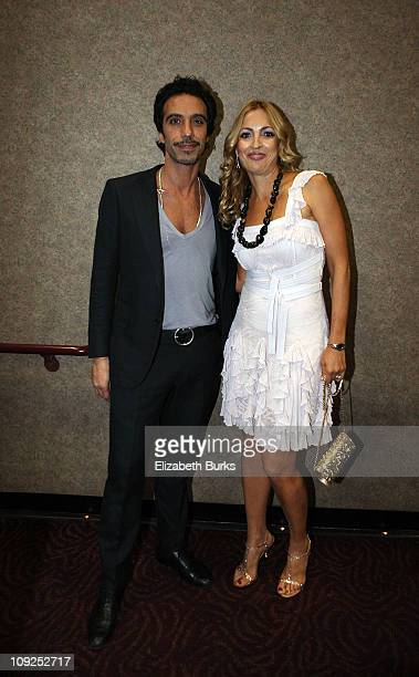 Carlos Leon and Elika Portnoy speak at the Miami screening of Immigration Tango at AMC Sunset Place on February 17 2011 in Miami Florida
