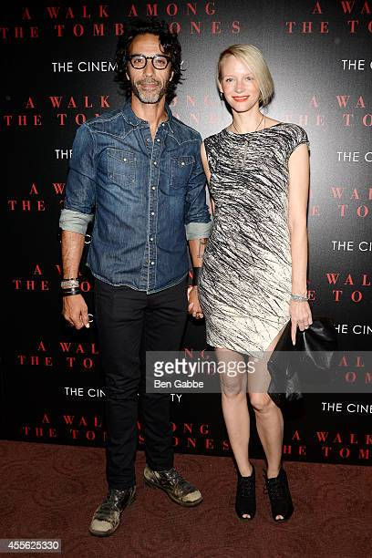 Carlos Leon and wife Betina Holte attend the Universal Pictures and Cross Creek Pictures with The Cinema Society screening of A Walk Among the...