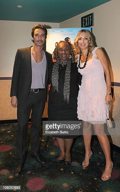 Carlos Leon Avery Sommers and Elika Portnoy attend the Miami screening of Immigration Tango at AMC Sunset Place on February 17 2011 in Miami Florida