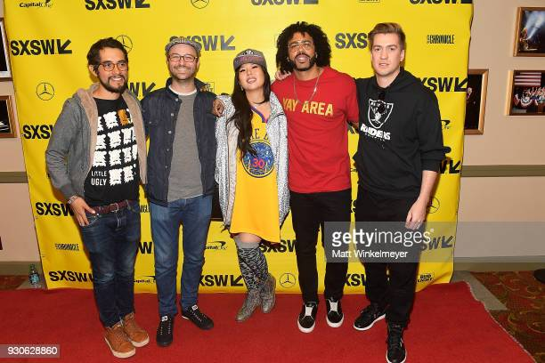 Carlos Lopez Keith Calder Jess Calder Daveed Diggs and Rafael Casal attend the 'Blindspotting' Premiere 2018 SXSW Conference and Festivals at...
