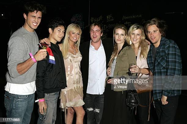Carlos Lopez, Paris Hilton, Chad Muska, Vanessa Traina, guest and Sean Stewart