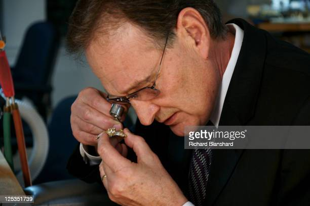Carlos Lucyk the Director of Tiffany Co's Jewelry Manufacturing Workshop in New York circa 2007