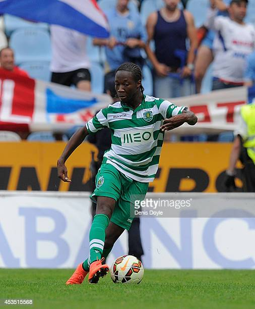 Carlos Mane of Sporting Clube de Portugal in action during the Teresa Herrera Trophy match between Sporting Clube de Portugal and Club Nacional de...