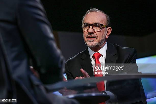 Carlos Manuel Sada Mexico's ambassador to the United States speaks during a Bloomberg Television interview in New York US on Friday Dec 16 2016 Sada...