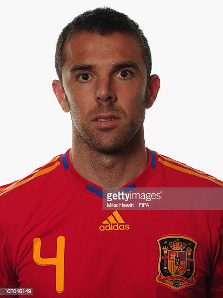 Carlos Marchena of Spain poses during the official Fifa World Cup 2010 portrait session on June 13 2010 in Potchefstroom South Africa