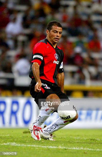 Carlos Maria Morales carries the ball during a match between Atlas and Morelia as part of the Apertura 2004, September 18, 2004 in Zapopan, Mexico.