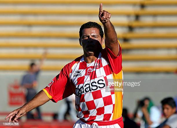 Carlos Maria Morales gestures during a match Tecos on November 26, 2005 in Zapopan, Mexico.