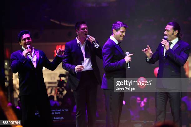 Carlos Marin, David Miller, Sebastien Izambard and Urs Buhler of Il Divo perform during the Grand Opening of The Mall of Qatar at Mall of Qatar on...