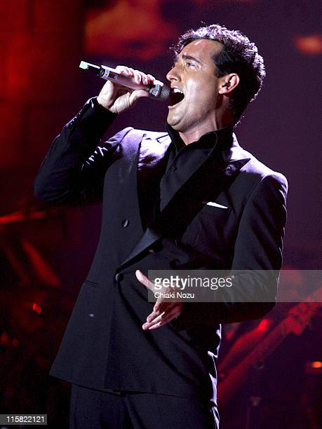 Carlos Marin of Il Divo during Il Divo in Concert at Wembley Arena in London April 12 2006 at Wembley Arena in London Great Britain