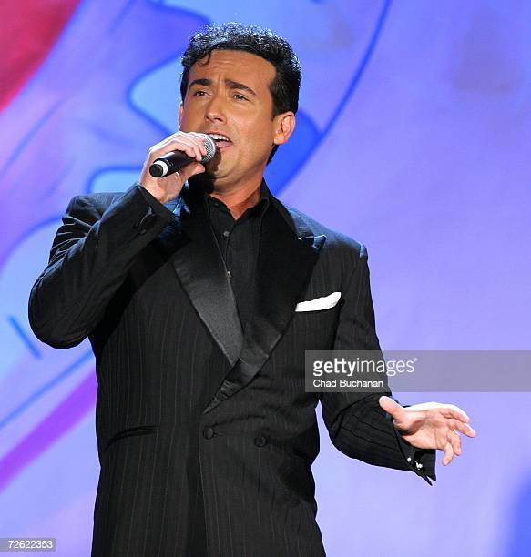 Carlos Marin of Il Divo performs at evening with Larry King & friends charity fundraiser at the Beverly Hilton on November 21, 2006 in Beverly Hills,...