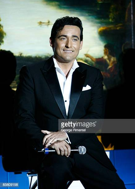 Carlos Marin of Il Divo performs at the Windsor Arms Hotel on November 24, 2008 in Toronto, Canada.