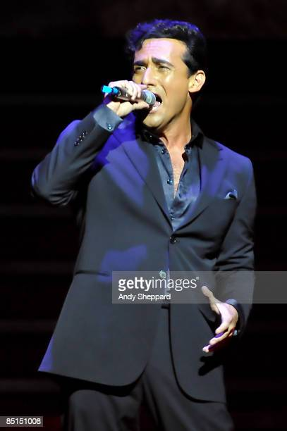 Carlos Marin of Il Divo performs on stage at O2 Arena on February 27 2009 in London England