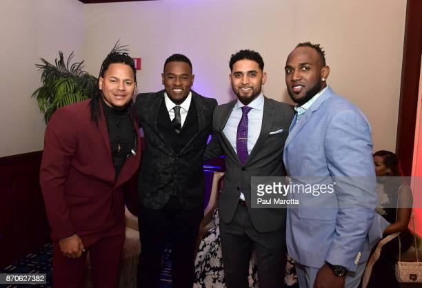 Carlos Martinez Luis Severino Danny Salazar and Marcell Ozuna attend 2nd Annual Pedro Martinez Charity Gala at The Colonnade Boston Hotel on November...