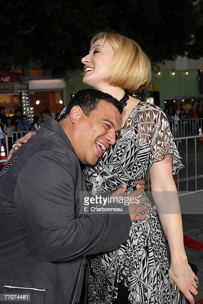 """Carlos Mencia and Amy Mencia at the premiere of """"The Heartbreak Kid"""" at Mann's Village Theater on September 27, 2007 in Westwood, California."""