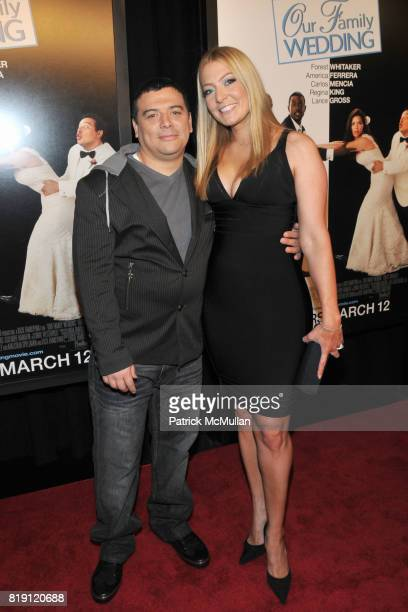 Carlos Mencia and Amy Mencia attend Arrivals for NY Premier of OUR FAMILY WEDDING at Loews Lincoln Square on March 9, 2010 in New York City.