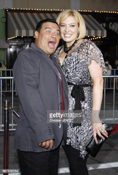 """Carlos Mencia and Amy Mencia attend the Los Angeles Premiere of """"The Heartbreak Kid"""" held at the Mann Village Theater in Westwood, California, United..."""