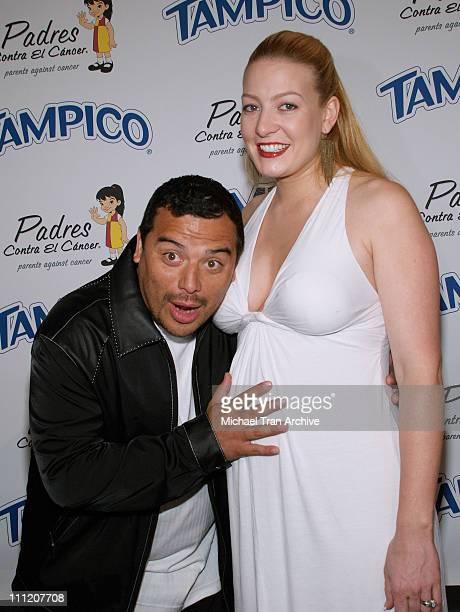 """Carlos Mencia and wife, Amy Mencia during Tampico Beverages Presents """"El Sueno de Esperanza"""" Gala to Benefit The PADRES Foundation - Arrivals at..."""