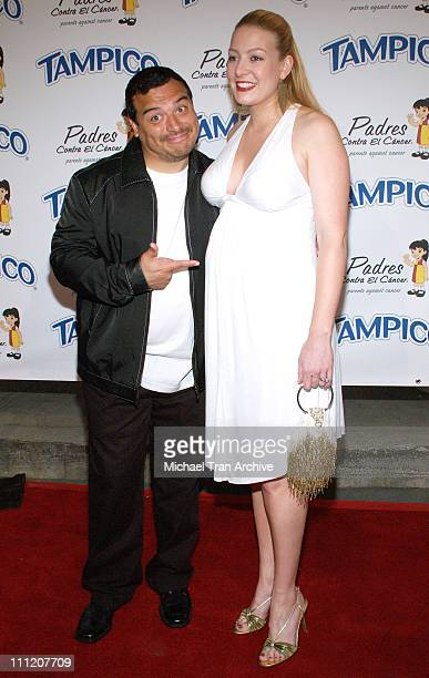 Carlos Mencia and wife Amy Mencia during Tampico Beverages Presents El Sueno de Esperanza Gala to Benefit The PADRES Foundation Arrivals at Desperate...