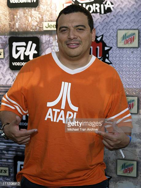 Carlos Mencia during GPhoria 2005 The Mother of All Videogame Award Shows Arrivals at Los Angeles Center Studios in Los Angeles California United...