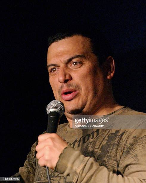 Carlos Mencia performs at the Ice House Comedy Club on February 5 2008 in Pasadena California