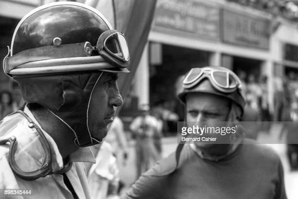 Carlos Menditeguy Juan Manuel Fangio Maserati 250F Grand Prix of France RouenLesEssarts 07 July 1957