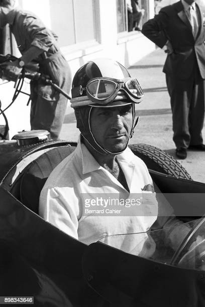 Carlos Menditeguy Maserati 250F Grand Prix of France RouenLesEssarts 07 July 1957