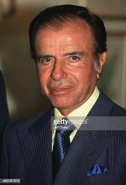 Carlos Menem the Argentinian president visiting the UK
