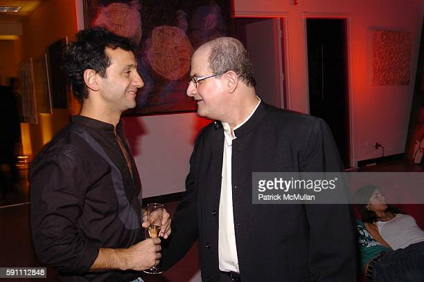 Carlos Miele and Salman Rushdie attend Carlos Miele Padma Lakshmi host a Secret Afterparty honoring The Tribeca Film Festival the First Annual Pen...