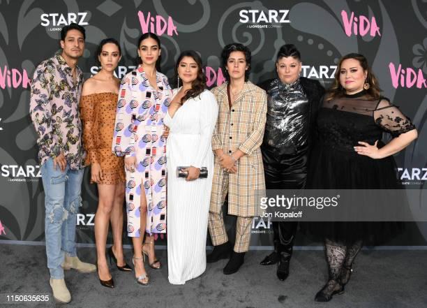 Carlos Miranda Mishel Prada Melissa Barrera Chelsea Rendon Roberta Colindrez Ser Anzoategui and Tanya Saracho attend the LA Premiere Of Starz' VIDA...