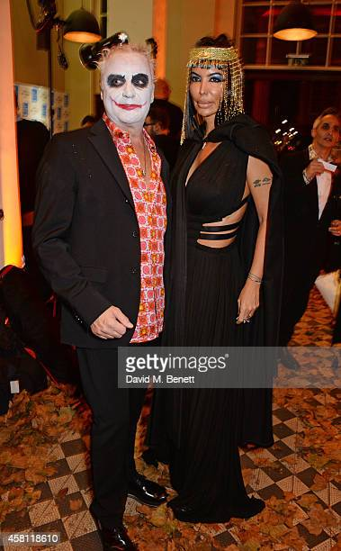 Carlos Monteverde and Isis Monteverde attend the Unicef UK Halloween Ball raising vital funds to help protect Syria's children from danger at One...