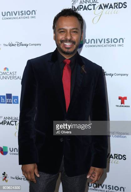 Carlos Moreno Jr attends the 21st Annual National Hispanic Media Coalition Impact Awards Gala at Regent Beverly Wilshire Hotel on February 23 2018 in...
