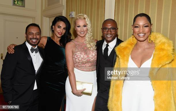 Carlos Moreno Jr Tilda del Toro Amanda Moore Tommie Davidson and Garcelle Beauvais attend Byron Allen's Oscar Gala Viewing Party To Support The...
