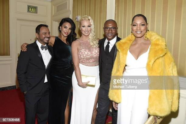Carlos Moreno Jr Tilda Del Toro Amanda Moore Tommy Davidson and Garcelle Beauvais attend Byron Allen's Oscar Gala viewing party to support The...