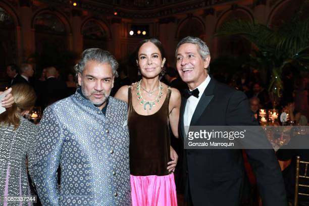 Carlos Mota Allison Sarofim and Carlos Souza during the Casita Maria Fiesta 2018 at The Plaza Hotel on October 16 2018 in New York City