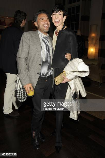 Carlos Mota and Amy Fine Collins attend Gwyneth Paltrow and VBH's Bruce Hoeksema Host Cocktail Party for Valentino The Last Emperor at VBH on October...