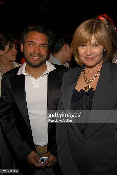 Carlos Mota and Anne McNally attend Madison Avenue Where Fashion Meets Art at Yves Saint Laurent on April 28 2005 in New York City