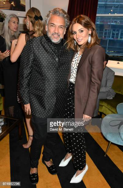 Carlos Mota and Marandi Narmina attend a private dinner hosted by Edward Enninful in honour of Giambattista Valli to celebrate the opening of his...
