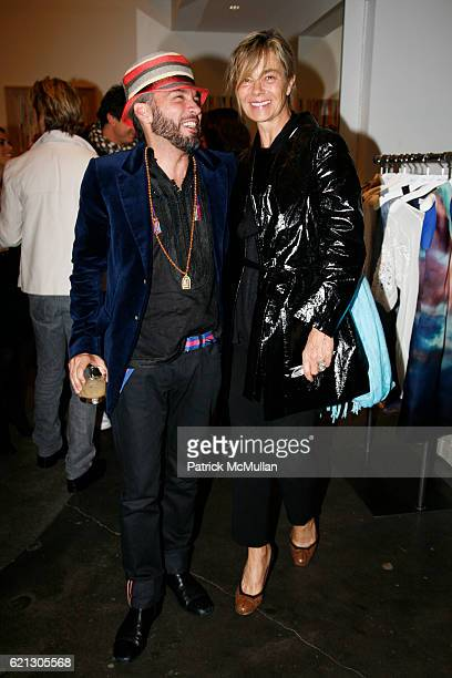 Carlos Mota and Nadine Johnson attend SVEDKA presents CARLOS SOUZA's Most Wanted Design Jewelry Collection Hosted by Carlos Mota at BLUE CREAM at...