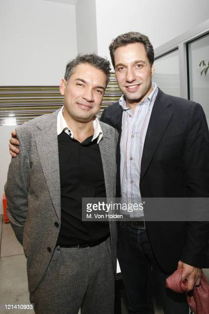 Carlos Mota and Thom Filicia during The Launch of Carlos Mota for Villency Atelier Hosted by Eric Villency and Margaret Russell - November 15, 2006...
