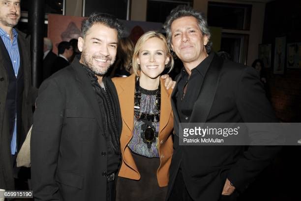 Carlos Mota Tory Burch and Carlos Souza attend ALEX KRAMER DANIEL BAKER host cocktails to Celebrate the life and works of MANUEL PARDO at Private...