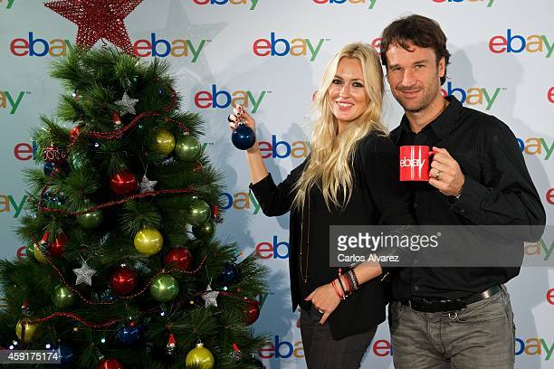 Carlos Moya and wife Carolina Cerezuela are presented as the new Christmas Ebay Ambassadors on November 18 2014 in Madrid Spain