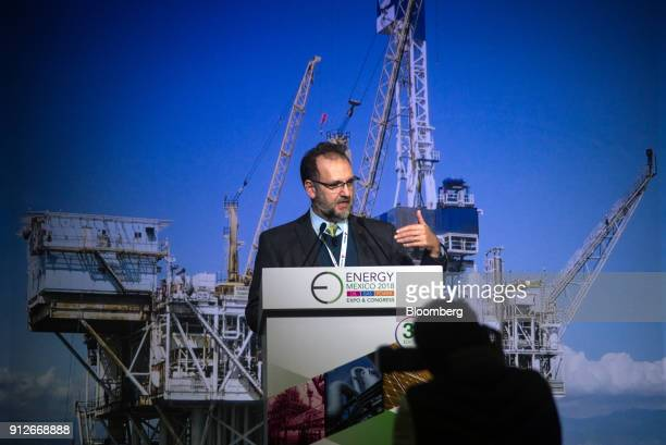 Carlos Murrieta Cummings chief executive officer for industrial transformation at Petroleos Mexicanos speaks during the Energy Mexico Expo Congress...