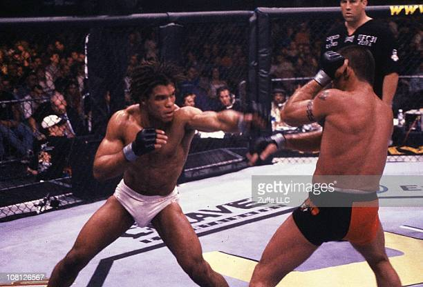 Carlos Newton defeats Pat Miletich to win the UFC Welterweight Championship at the Trump Taj Mahal on May 4 2001 in Atlantic City New Jersey