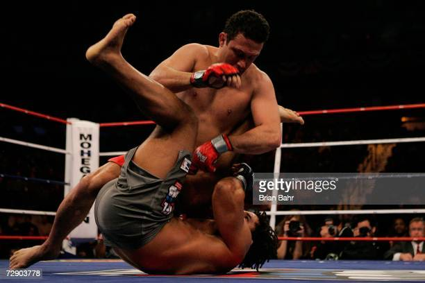 Carlos Newton fights Renzo Gracie during the International Fight League World Team Championship Final at the Mohegan Sun Arena on December 29 2006 in...
