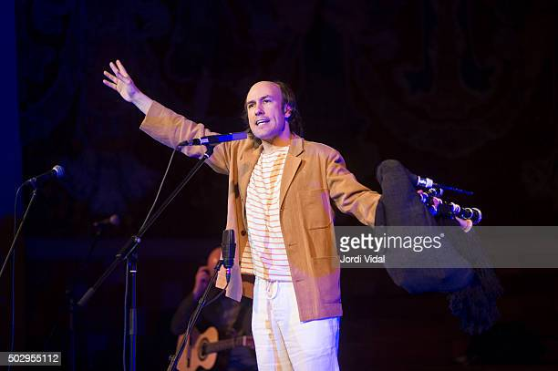 Carlos Nunez perfoms on stage during Festival del Millenni at Palau de la Musica on December 30 2015 in Barcelona Spain